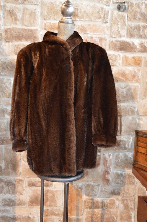 XL Dark Ranch Mink Jacket