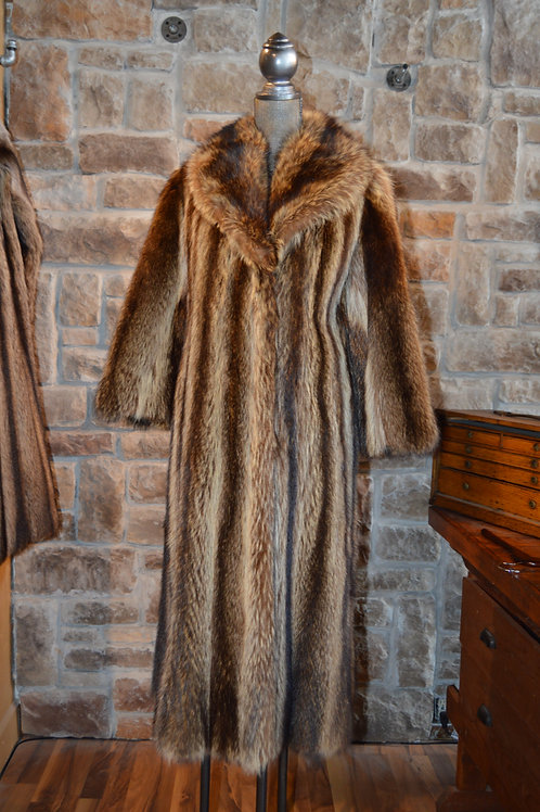 Small North American Raccoon Full-length Coat