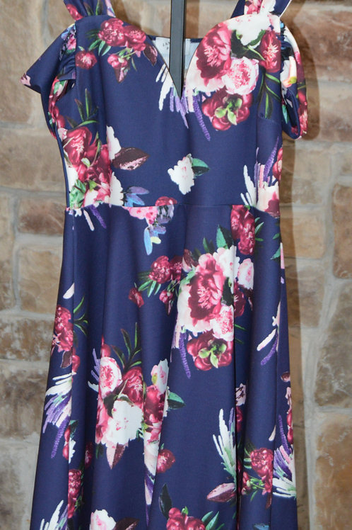 Cold Shoulder Floral Sundress