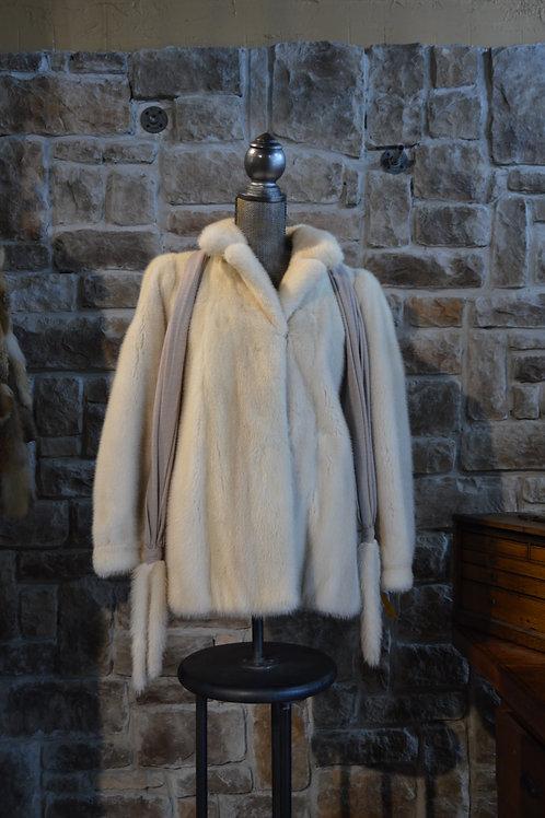 Small Tourmaline Mink Jacket