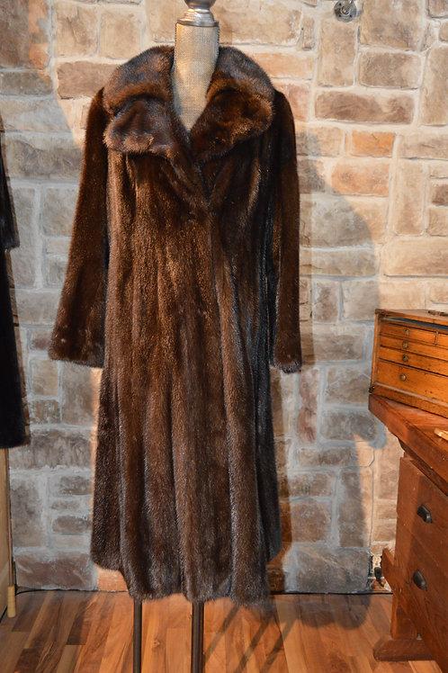 Large Mahogany Mink Full-length Coat