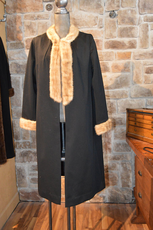 Large Dress Coat with Mink Collar