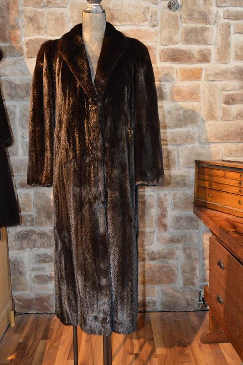 Medium Dark Ranch Female Pelts Full-length Coat