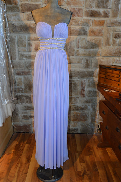 Large (12) Lavender Embellished Prom Gown By Terani Couture