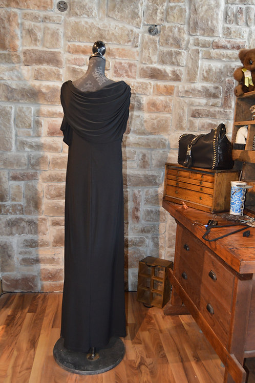XL (14W) Black Evening Gown Full-length By Xscape