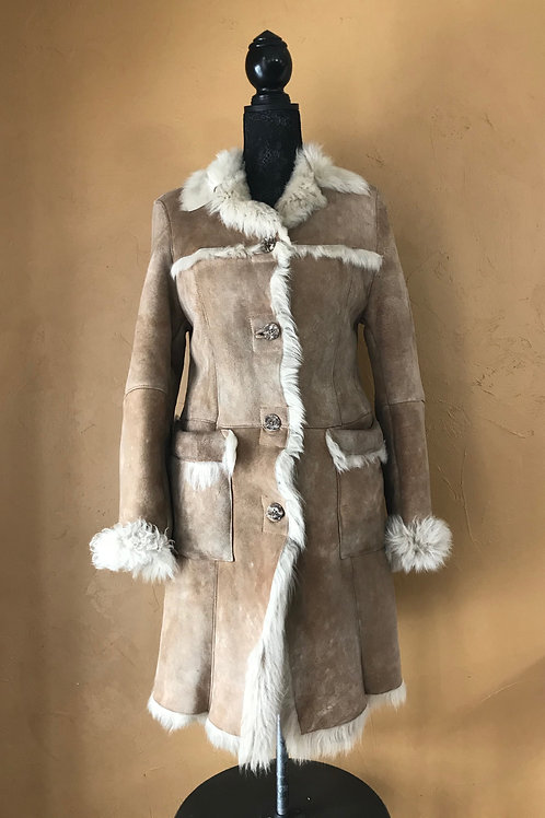 S Tan Sheepskin Coat
