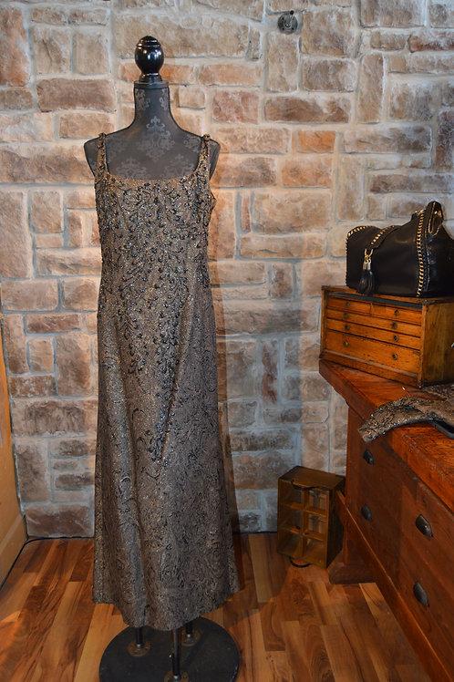 Large (14) Black Beaded Embellished Gown with Bolero