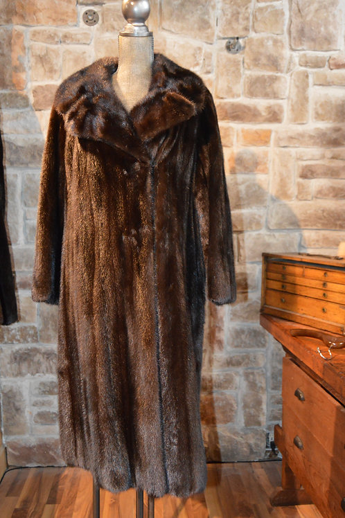 Large Dark Ranch Mink Coat Full-length