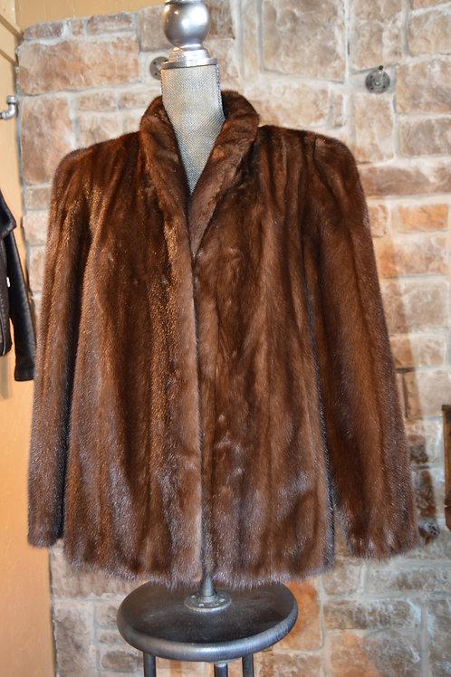 XL - Dark Ranch Mink Jacket