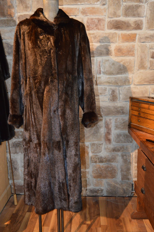 XL Dark Ranch Mink Ranch Full-length Coat