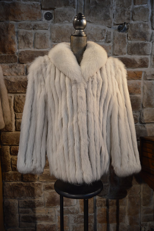 Large  Blue Fox Coat