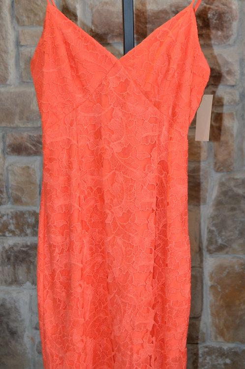 V-Neck Spaghetti Strap Corded Lace Dress