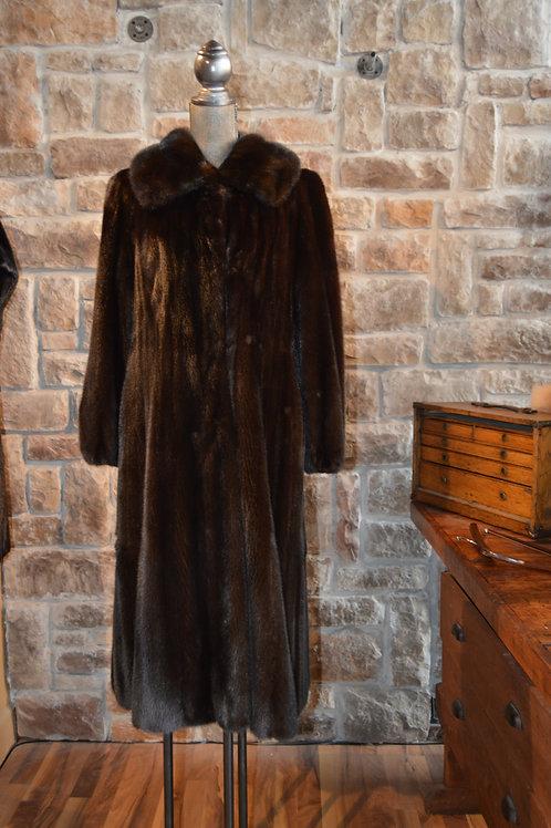 Medium Long Dark Mink Coat