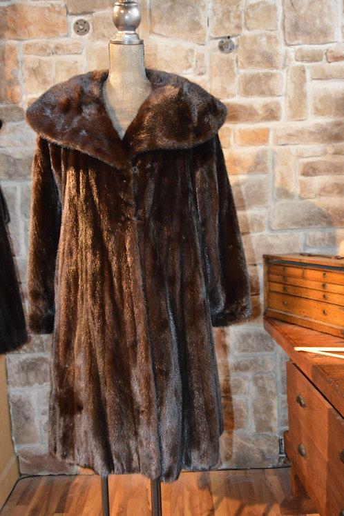 Medium Dark Ranch Mink Coat
