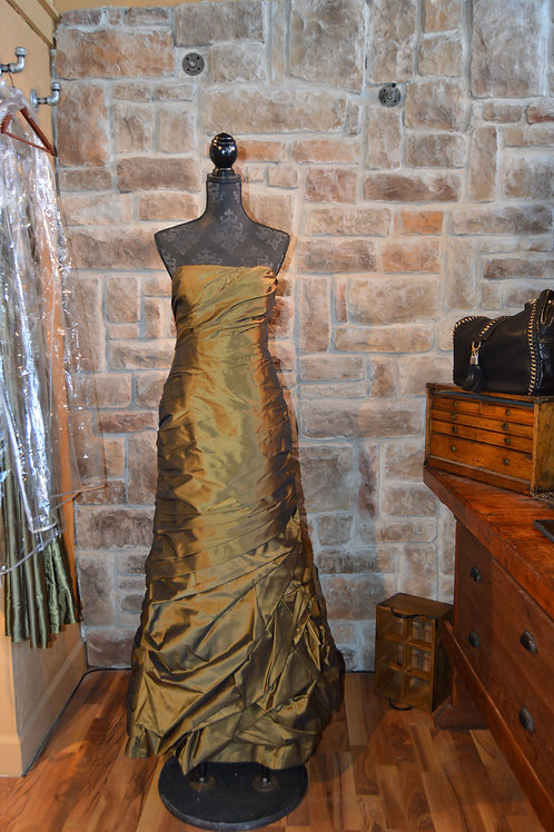Large (14) Bronze ruched gown