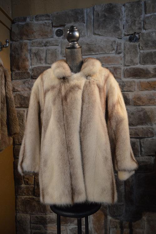Large Cross Mink Jacket