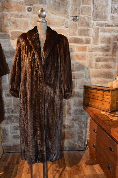 Large Dark Ranch Mink Coat Female Pelts