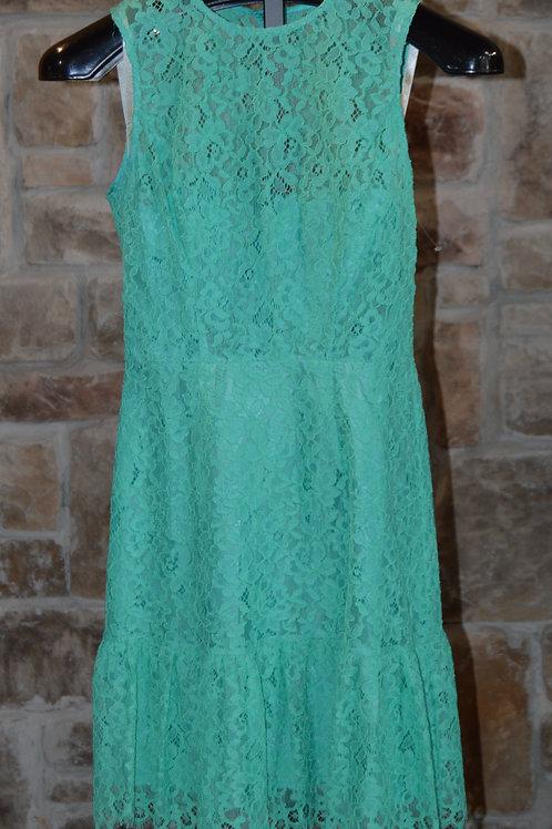 Floral Lace Ruffle Hem Tank Dress