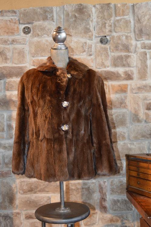 Medium Dark Brown Squirrel Red Jacket
