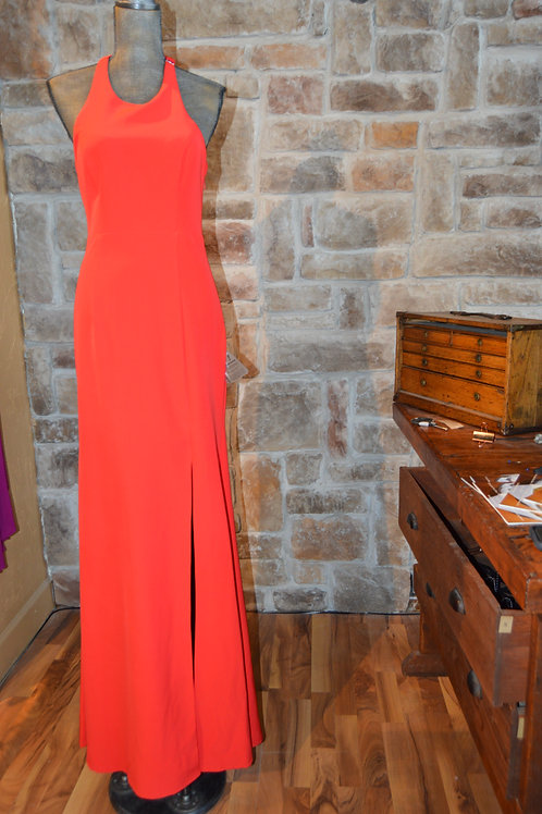 Large Bariano Red Halter Dress