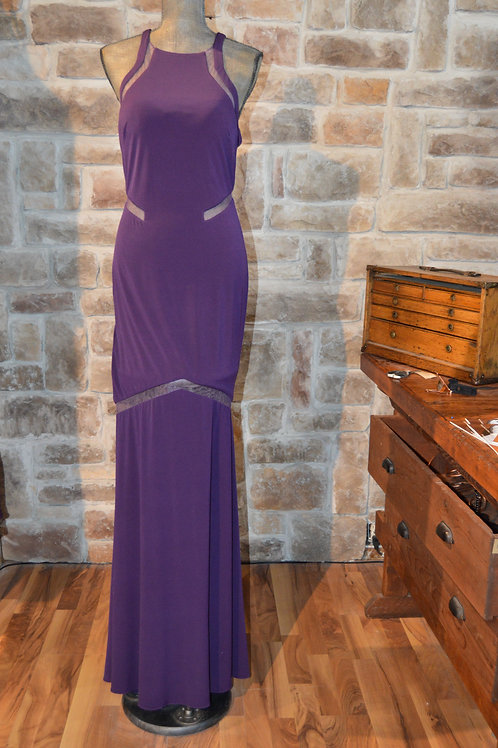 Large Purple Evening Gown