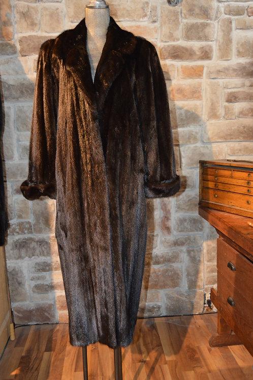 Large Dark Ranch Mink Full-length Coat