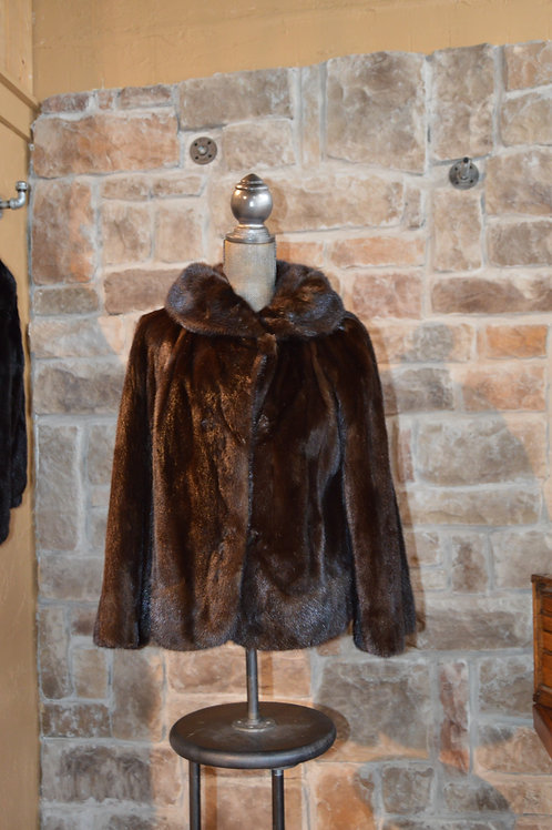 Medium/Large Dark Ranch Mink Jacket