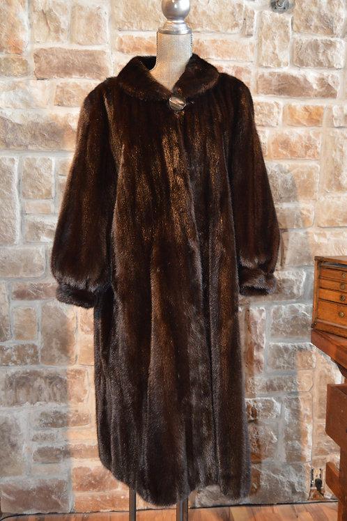 3 XL Dark Ranch Mink Full-length Coat