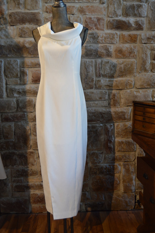 Large White Off-the-shoulder Evening Gown
