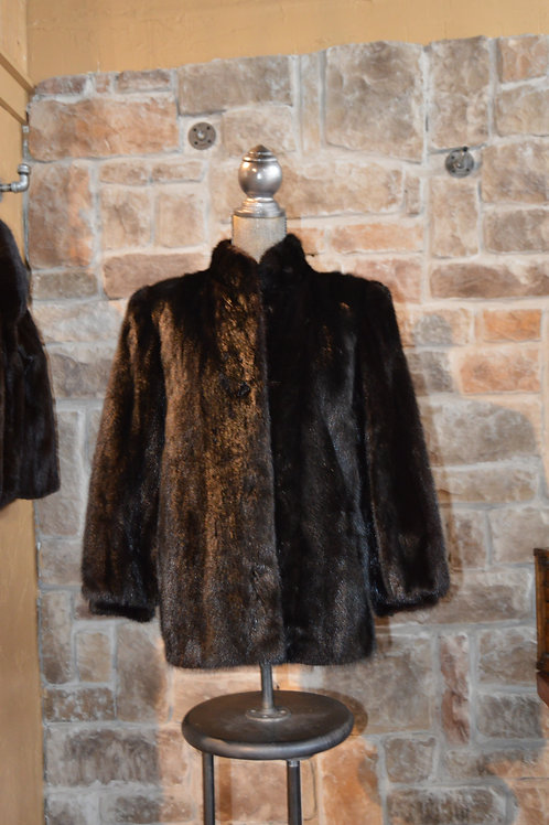 Small Black Mink Sections Jacket
