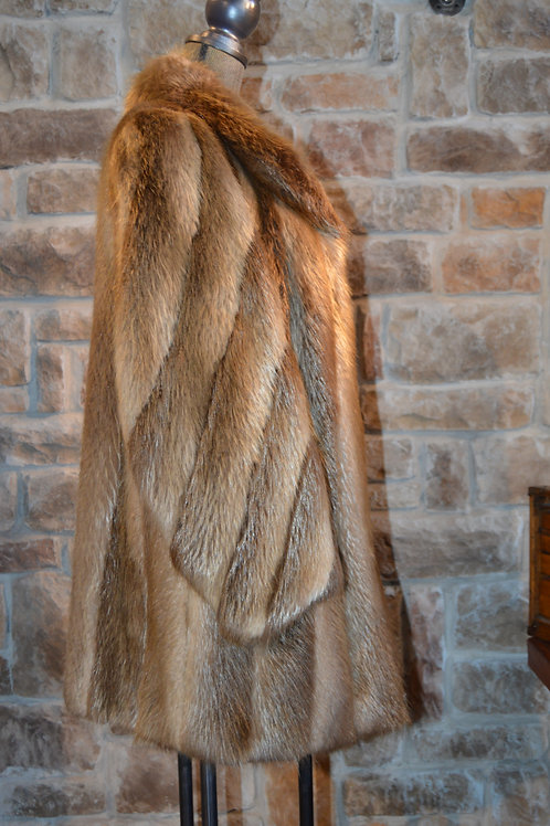 Large Blonde Beaver with shawl collar and spiral sleeves