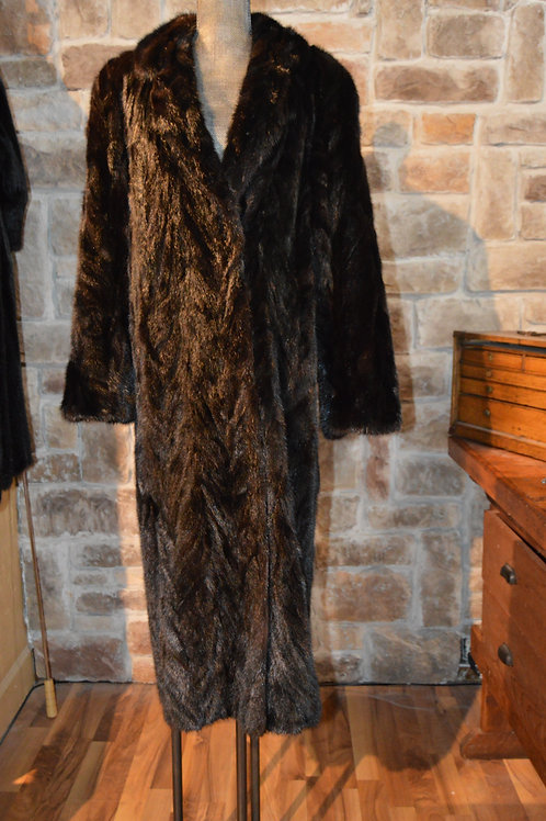 Large Blue Mink Long Full-length Coat