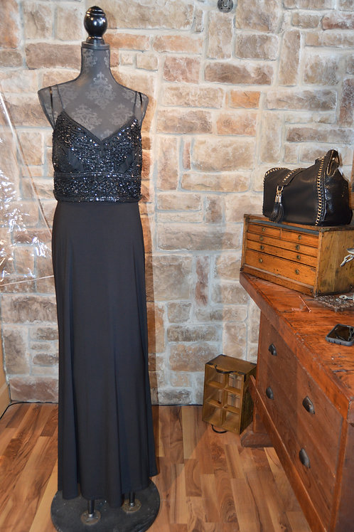 Large Black Beaded Formal Gown