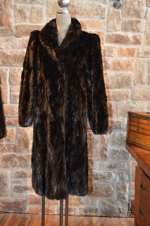 Mink paws coat Full-length