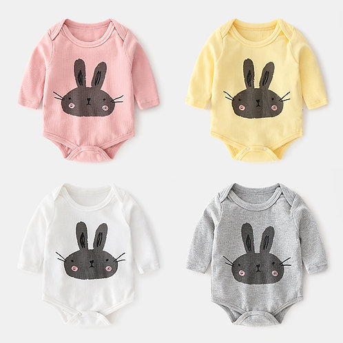 Rabbit Long Sleeve Romper/Bodysuits