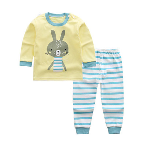 Cute Rabbit Print Long Sleeve Sleepsuits