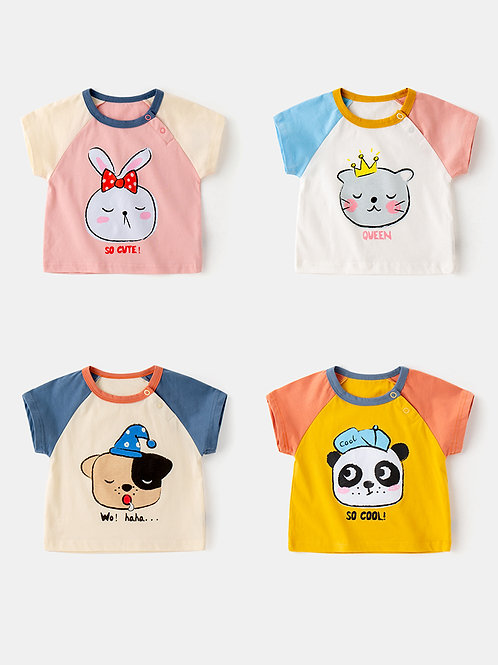 Colorful Animal Graphic Tee for Little Girl / Boy