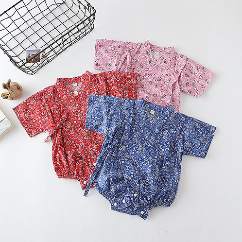 Little Fishy Print Kimono for Baby Girl/Boy