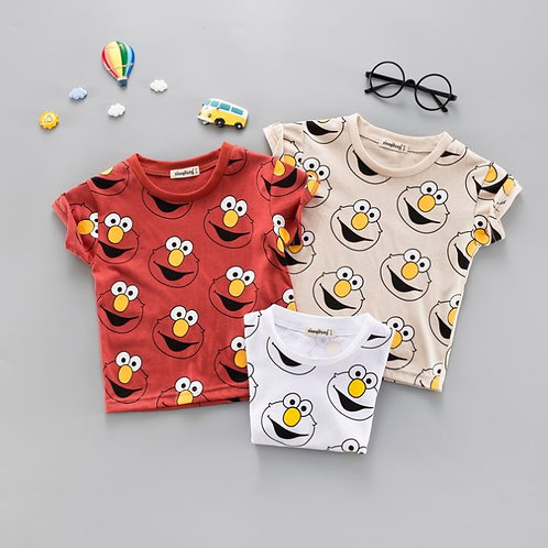 Elmo Design Shirt for Toddler/Baby Girl & Boy
