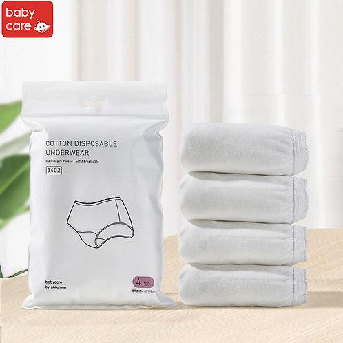 Babycare Cotton Disposable Underwear (4pcs Pack)