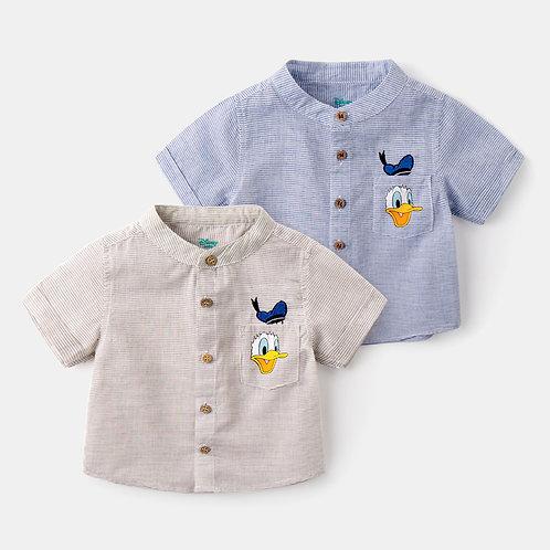 Donald Duck Short Sleeve Button Shirt