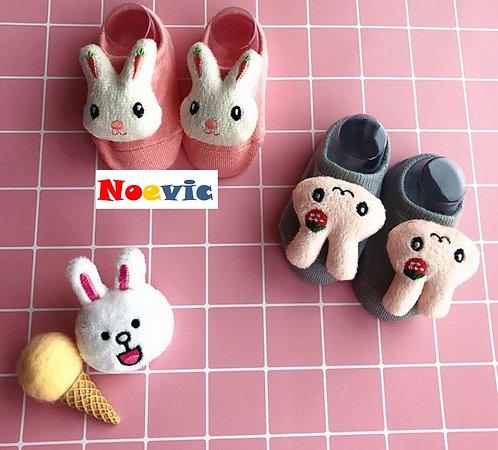 Cute Cartoon Head Baby Non-slip Socks