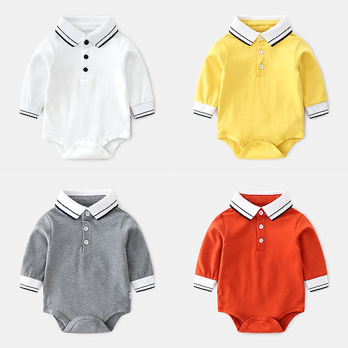 Polo Tee Harlem Long Sleeve Romper/Bodysuits