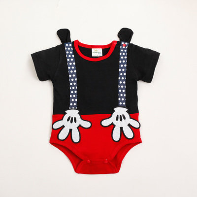 [Clearance Sale] Mickey Hand Suspender Like Baby Romper/Bodysuits