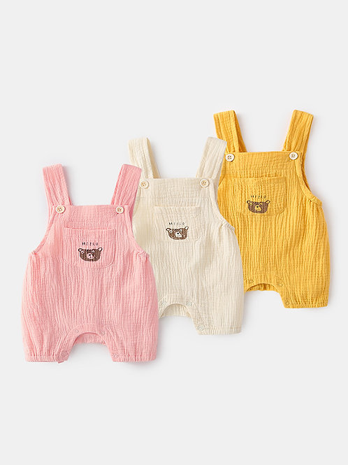 Lovely Bear Suspender Cotton Short for Baby and Toddler