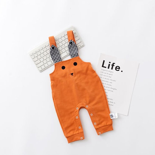 Orange Bear Design Baby Jumpsuit