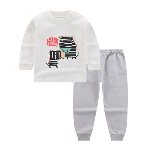 Zebra Mum and Kido Print Long Sleeve Sleepsuits