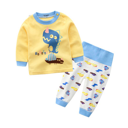 Cute Dinosaur Print Long Sleeve Sleepsuits