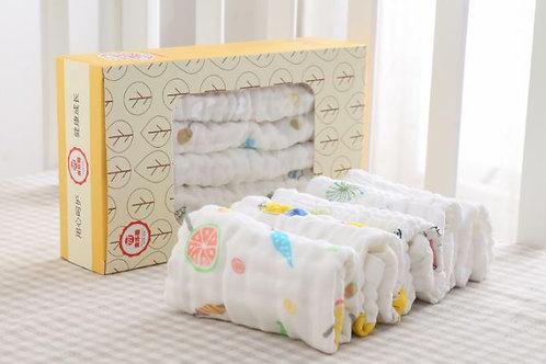 Muslin Baby Face Towel (5pcs Pack)