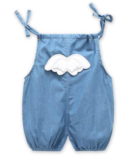 Angel Wing Jeans Romper/Suspender for Baby/Toddler
